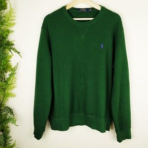 Polo Ralph Lauren Green Pullover Sweater Men's L